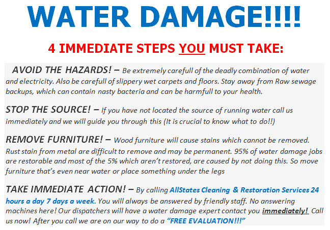Water Damage  Flood Clean up Warren